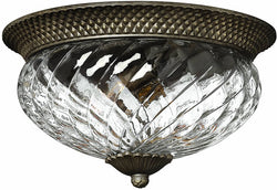 Hinkley Plantation 3-Light Flush Mount Fixture Pearl Bronze 4881PZ