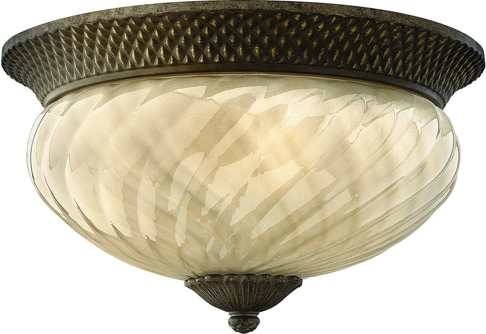 "16""W Plantation 1-Light Outdoor Ceiling Light Pearl Bronze"