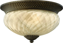 Hinkley Plantation 1-Light Outdoor Ceiling Light Pearl Bronze 2123PZ-LED