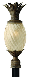 Plantation 1-Light Outdoor Post Light Pearl Bronze