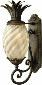 "21""H Plantation 1-Light Outdoor Wall Lantern Pearl Bronze"