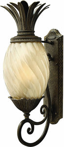 "28""H Plantation 1-Light Large Outdoor Wall Lantern Pearl Bronze"