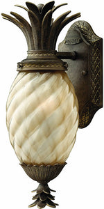 "14""h Plantation 1-Light Outdoor Wall Lantern Pearl Bronze"