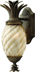 Plantation 1-Light Outdoor Wall Light Pearl Bronze