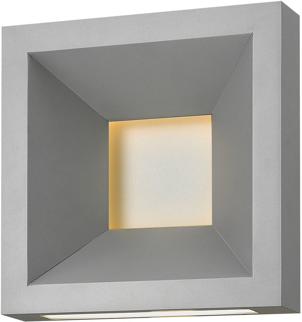 Plaza  1-Light Outdoor Wall Light Titanium