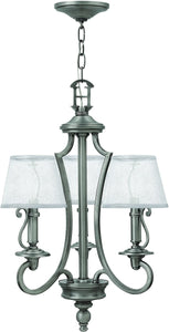 Hinkley Plymouth 3-Light Chandelier Polished Antique Nickel 4243PL