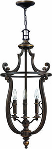 "18""w Plymouth 4-Light Foyer Chandelier Olde Bronze"