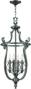 Hinkley Plymouth 4-Light Chandelier Polished Antique Nickel 4254PL
