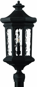 "26""h Raley 4-Light Extra-Large Outdoor Post Lantern Museum Black"