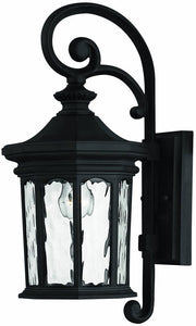 Hinkley Raley 1-Light Outdoor Wall Lantern Museum Black 1600MB