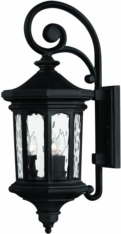 "26""h Raley 3-Light Outdoor Wall Lantern Museum Black"