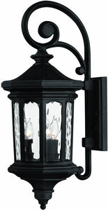 Hinkley Raley 3-Light Outdoor Wall Lantern Museum Black 1604MB