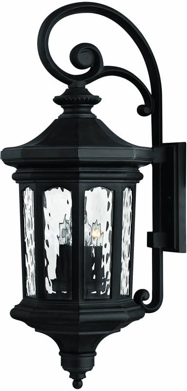 "31""h Raley 4-Light Large Outdoor Wall Lantern Museum Black"