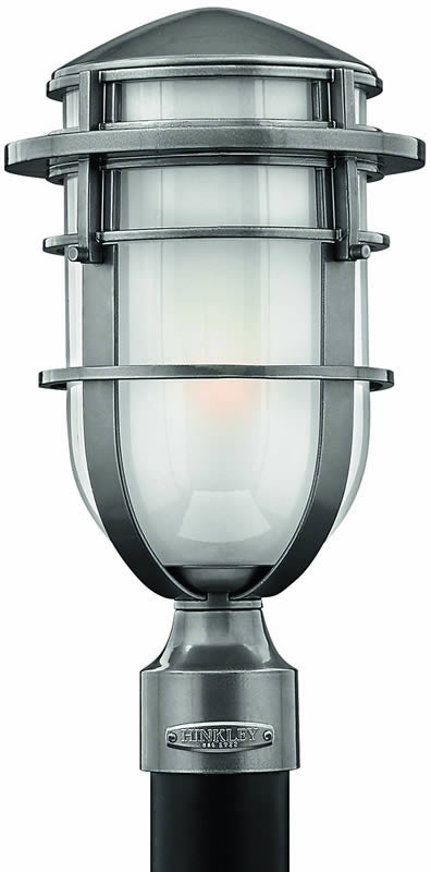 "16""h Reef 1-Light Outdoor Post Lantern Hematite"