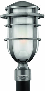Hinkley Reef 1-Light Outdoor Post Lantern Hematite 1951HE