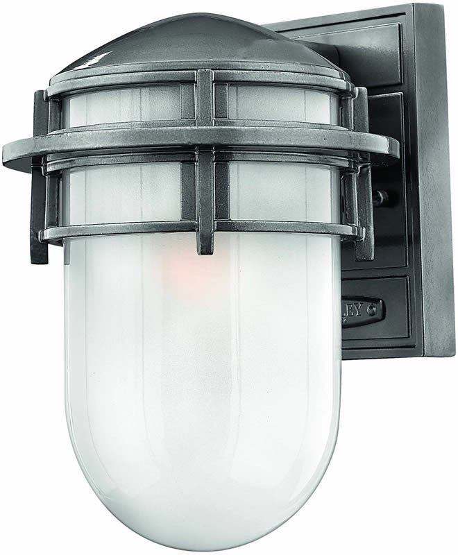 "11""h Reef 1-Light Outdoor Wall Lantern Hematite"