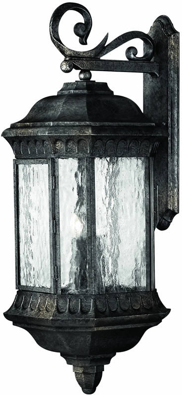 "32""h Regal 4-Light Extra-Large Outdoor Wall Lantern Black Granite"