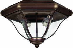 Hinkley San Clemente 2-Light Outdoor Flush Mount Fixture Copper Bronze 2443CB