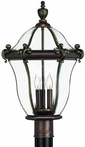 Hinkley San Clemente 3-Light Large Outdoor Post Lantern Copper Bronze 2441CB
