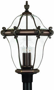 Hinkley San Clemente 3-Light Extra-Large Outdoor Post Lantern Copper Bronze 2447CB