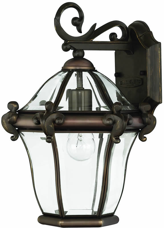 "15""h San Clemente 1-Light Outdoor Wall Lantern Copper Bronze"