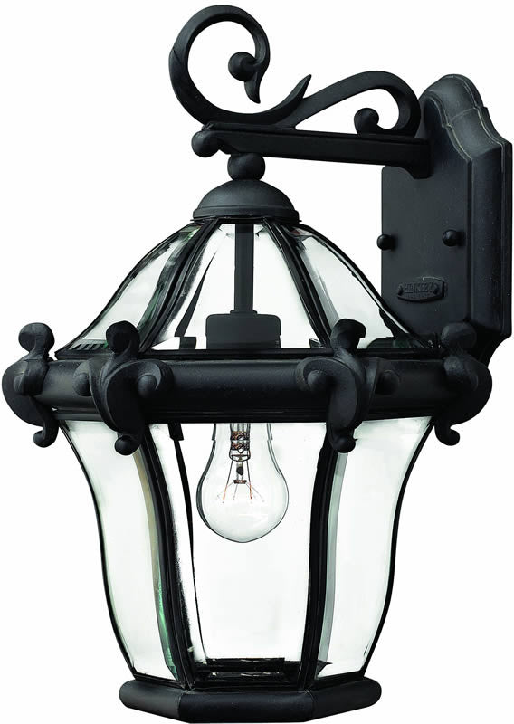 "15""h San Clemente 1-Light Outdoor Wall Lantern Museum Black"