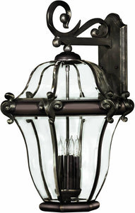 Hinkley San Clemente 4-Light Extra-Large Outdoor Wall Lantern Copper Bronze 2446CB