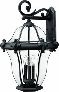 Hinkley San Clemente 4-Light Extra-Large Outdoor Wall Lantern Museum Black 2446MB