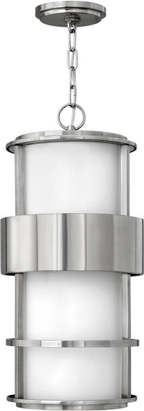 "10""w Saturn 1-Light Outdoor Hanging Lantern Stainless Steel"