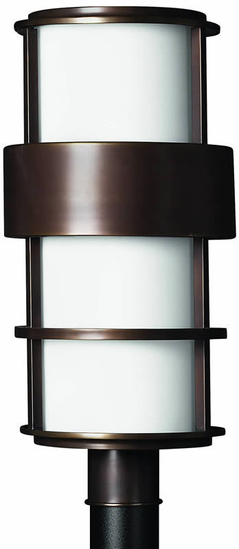 "22""h Saturn 1-Light Large Outdoor Post Lantern Metro Bronze"