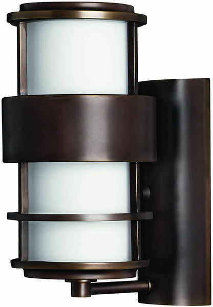 "12""h Saturn 1-Light Outdoor Wall Lantern Metro Bronze"