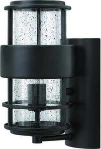 Hinkley Saturn 1-Light Outdoor Wall Light Satin Black 53324PL