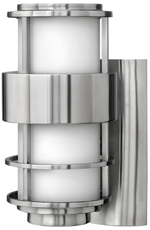 "12""h Saturn 1-Light Outdoor Wall Mount Stainless Steel"