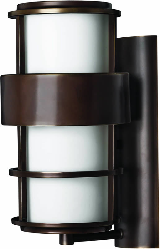 "16""h Saturn 1-Light Outdoor Wall Lantern Metro Bronze"