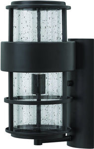 Hinkley Saturn 1-Light Outdoor Wall Light Satin Black 1904SK