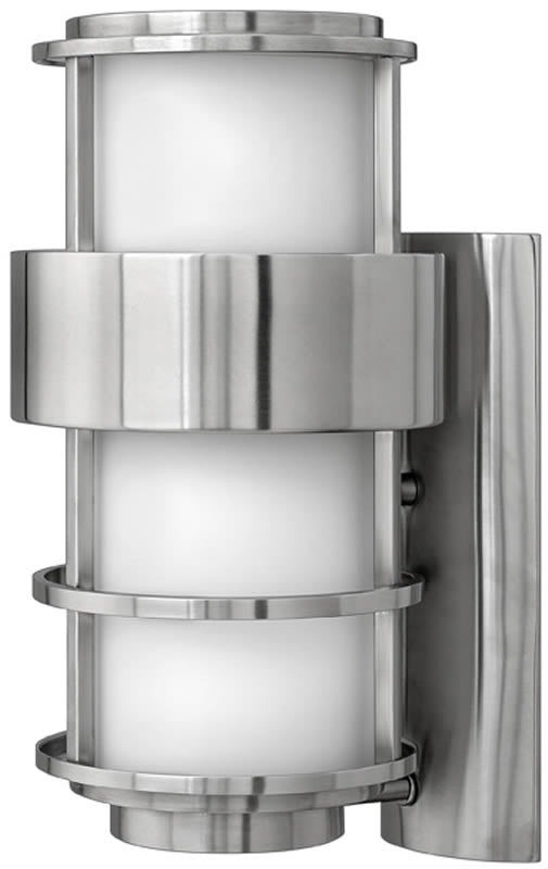 "16""h Saturn 1-Light Outdoor Wall Mount Stainless Steel"