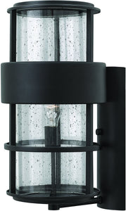 Hinkley Saturn 1-Light Outdoor Wall Light Satin Black 1905SK