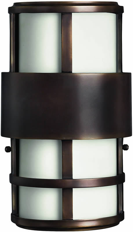 "13""h Saturn 2-Light Outdoor ADA Wall Lantern Metro Bronze"