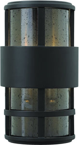 Hinkley Saturn 2-Light Outdoor Wall Light Satin Black 3524CM