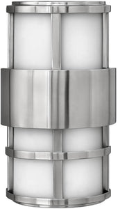 Hinkley Saturn 2-Light Outdoor Wall Mount Stainless Steel 1908SS