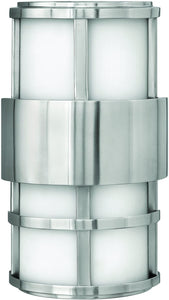Hinkley Saturn 2-Light Outdoor Wall Light Stainless Steel 1908SS-LED