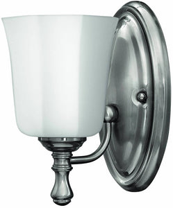 "6""w Shelly 1-Light Bath Vanity Brushed Nickel"