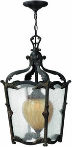 Hinkley Sorrento 1-Light Outdoor Pendant Aged Iron 1422AI