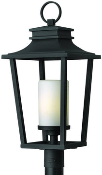 "26""H Sullivan 1-Light Outdoor Post Lantern Black"