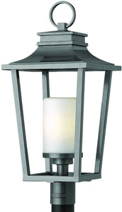 "26""h Sullivan 1-Light Outdoor Post Lantern Hematite"