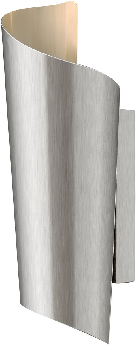 "15""h Surf 2-Light Wall Outdoor Stainless Steel"