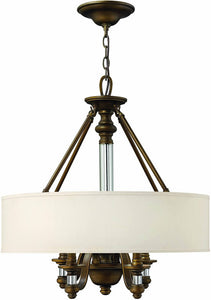 Hinkley Sussex 4-Light Chandelier English Bronze 4797EZ