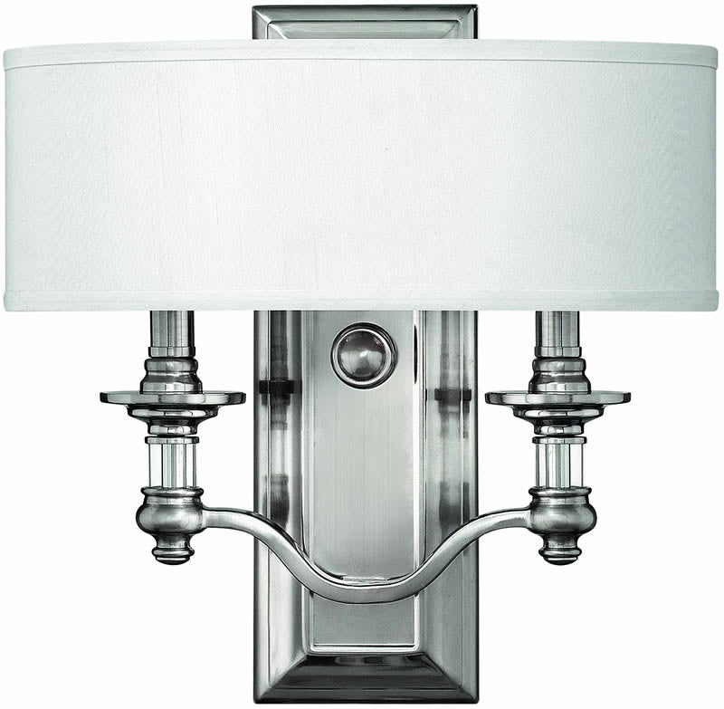 "14""w Sussex 2-Light ADA Wall Sconce Brushed Nickel"