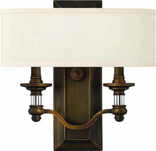 "14""w Sussex 2-Light ADA Wall Sconce English Bronze"