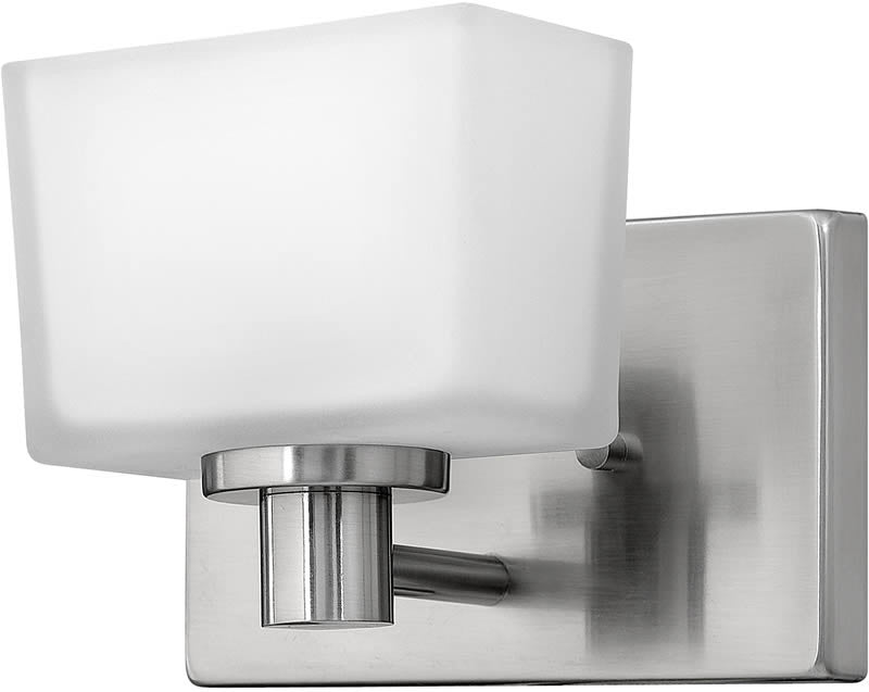 "7""w Taylor 1-Light Halogen Bath Vanity Brushed Nickel"